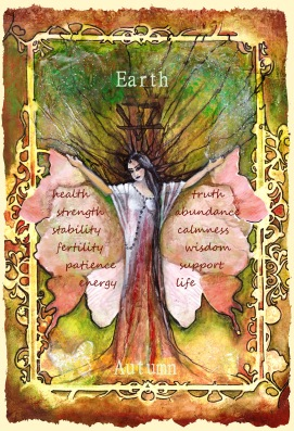 Finished Earth element oracle card gaia
