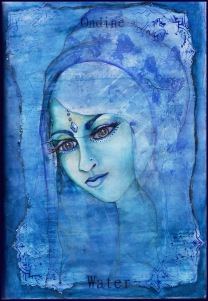 On the back of each Water Card~ Goddess Ondine